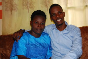 Myself & my wife at home