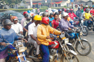 Okada transportation business.