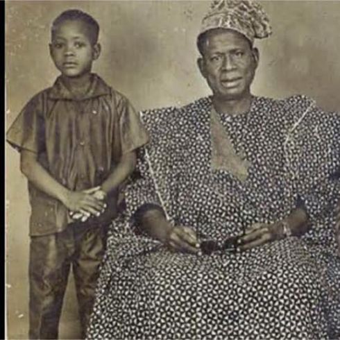 Little Dele-momodu-and-his-Late father